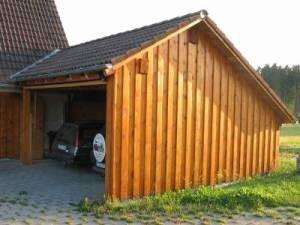 Wandverkleidung Garage : Holzbau hermann demattio sohn carport und garagen